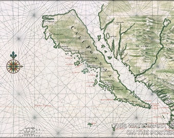 16x24 Poster; California Island Map Of California As An Island C1650 By Johannes Vingboons