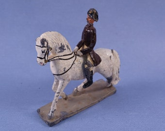 Lead Calvary Soldier Riding Horse Two Piece Set