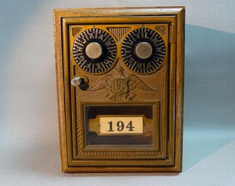 Odyssey Creations Vintage Post Office Lockbox Coin Bank