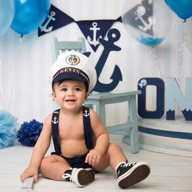 1st Birthday Outfit Ship Captain Outfit Personalised Outfit