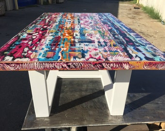 Unique Colorful Coffee Table