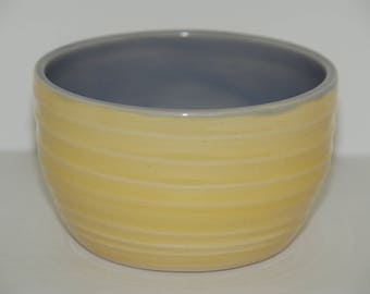 Handmade pottery cereal or ice cream bowl. Pottery bowl.