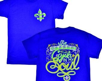 A Little Cajun in my Soul Purple T-Shirt - Tees2urdoor