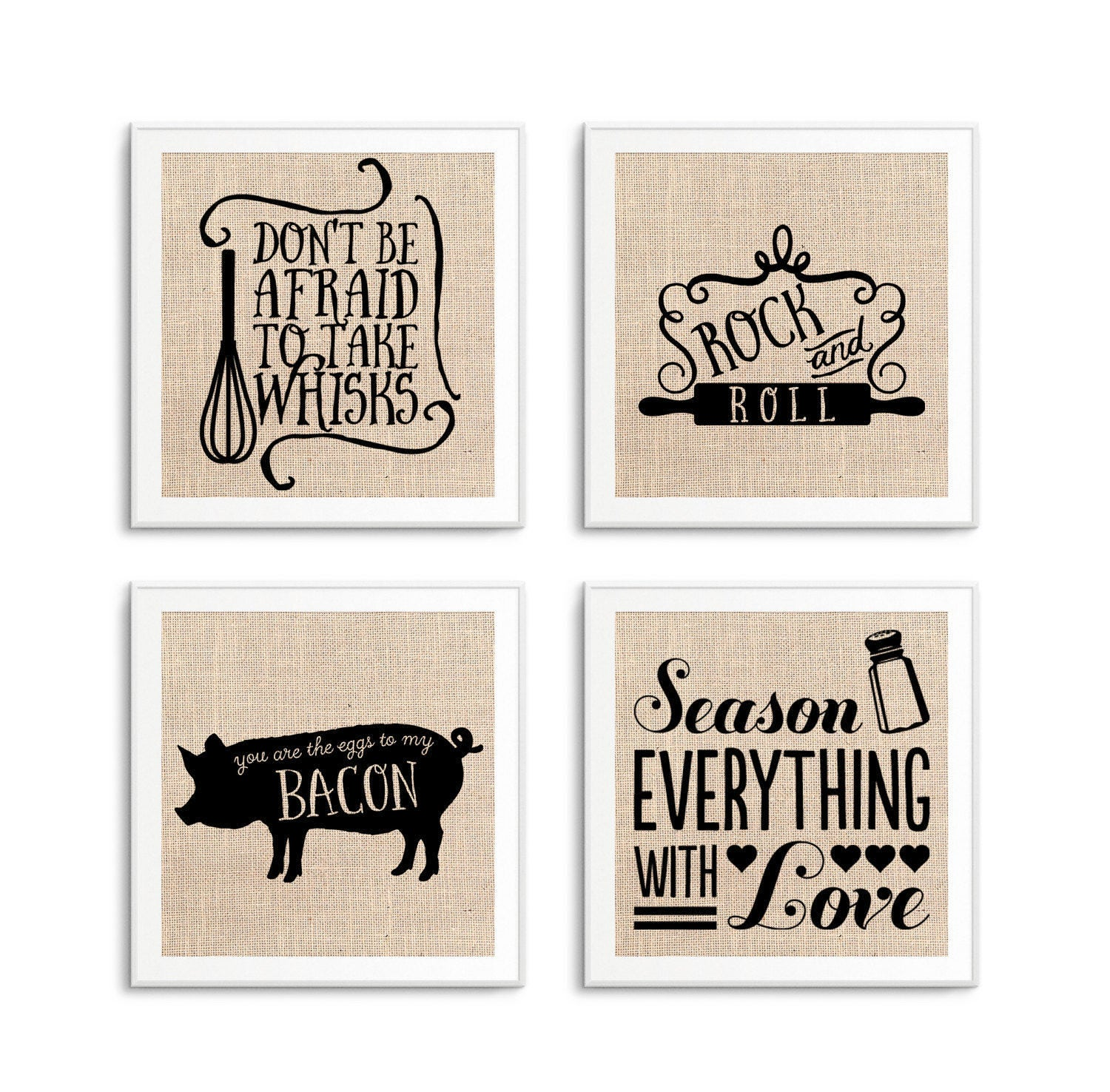 funny kitchen signs art decor set of 4 kitchen quotes on