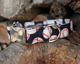 Baseball Collar | Male Dog Collar | Dog Collar | MLB | Metal Buckle | Large Dog Collar | Small Dog Collar | Baseball Fan | Dog Lover