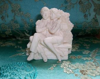 Italian sculpture-vivian c. -Off white alabaster