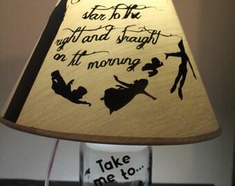 Mason Jar Peter Pan Lamp