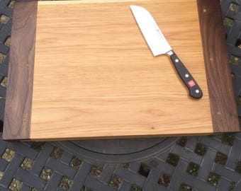 Large breadboard or cutting board. Great gift idea! Made of hickory and walnut.