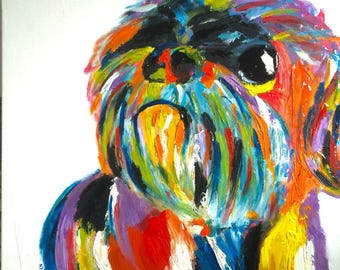 Custom Colorful Pet Painting Abstract