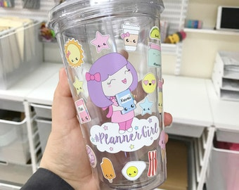 Decorate Your Own Sweet Kawaii Design Planner Girl Tumbler