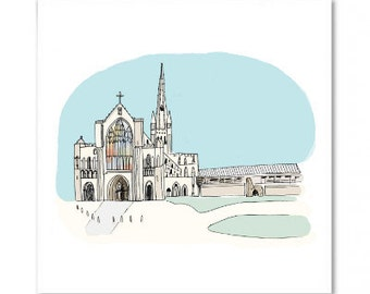 Norwich Cathedral Greetings Card