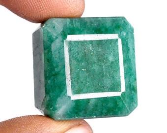 Natural emerald Zambia 53 Carats, 24mm x 22mm x 10mm FREE SHIPPING