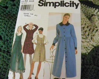 Vintage Sewing Pattern - Simplicity 7752 - Misses' Dress, Jumper, And Petticoat - Size AA XS, S, M