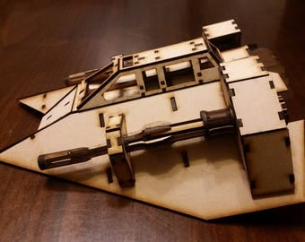Similar to Star Wars snow speeder wood laser cut model