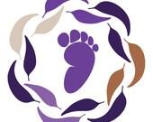 Orange Baby Shoes, Handmade Eco-Friendly star punch moccasins, Custom for Avyi