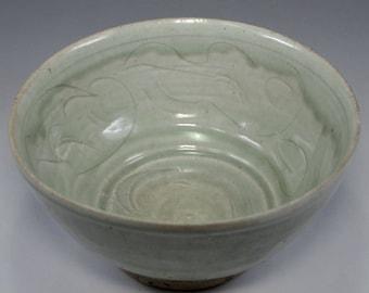 Antique Chinese Yuan Celadon Pottery Bowl #2545