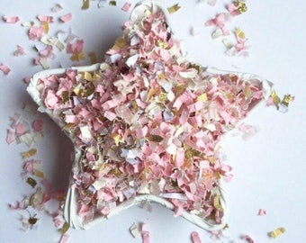 Pink and Gold Confetti | Blush Wedding Decor | Blush Baby Shower Decor | Blush Bridal Shower Decor | Blush Confetti | Pink and Gold Wedding
