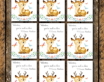 Valentine's Printable, Valentine's Printable Tags, Valentine's Day Print, You're Such A Deer, Kids Valentines, Personalized Printable Valent