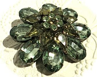 Vintage Rhinestone Brooch Rhinestone Pin Jewelry VA-117