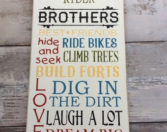 Brother Sign, brothers rules sign, Big Brother, Little Brother, big Brother, Playroom, toy room decor, brother room