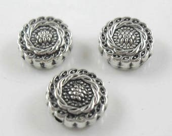 28/300pcs Tibetan Silver oblate flower Spacer Beads 4.5x10mm