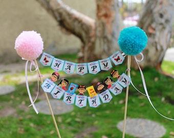 Frida Kahlo Cake Topper // Cake Banner // Bundt Cake Topper // Happy Birthday Banner