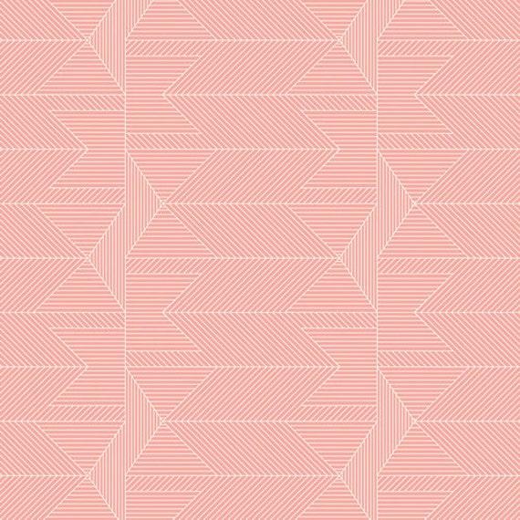 Crib Skirt >> Wonderful Things Journey in Blush > MADE-to-ORDER blush crib skirt, pink arrow crib skirt, triangle crib bedding, baby bedding