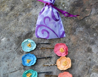 Spring Flower Bobby Pin Clips - 3