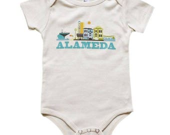 City Living Onesie - Alameda - California - Baby Shower - Newborn Gift - Take Home Outfit - Gender Neutral - Hometown - Organic