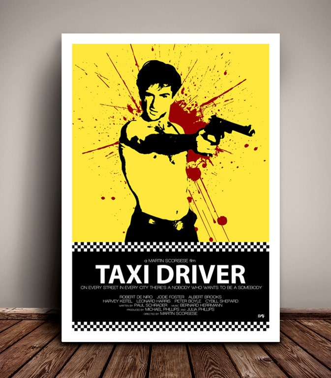 Taxi Driver // Robert De Niro // Martin Scorsese // Minimalist Movie Poster // Unique A4 / A3 Art Print