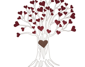 Roots Of Life - ACCESSORY HEARTS - Digital Machine Embroidery Design To Be Used With Tree Design Sold Separately