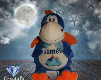Blue Dragon  personalised toy, plush toy, baby toy, christmas, birthday, baby shower, soft toy, wedding, kids, baby, boyfriend, mum, dad