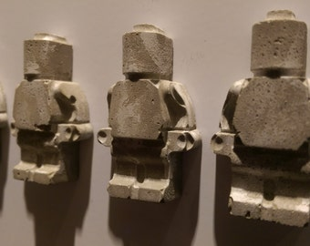 Cement lego figure fridge magnet