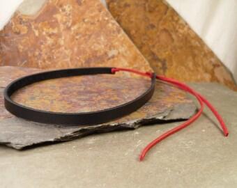 SALE! Leather Choker Necklace Boho Chic Hippie Tie-back Skinny Choker Most Popular Item Rocker Goth Trendy Jewelry