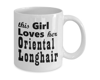 Cat Mugs Gifts - Oriental Longhair - 11oz/15oz Mug - Cat Lover Gift - Cat Coffee Mug - Funny Cat Mug - Coffee Mugs Tea Mugs Cat Gift For Her