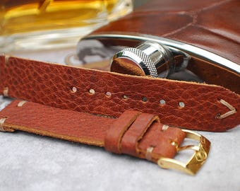 Handmade Genuine Leather 19mm Watch Strap For Omega-Stunning!
