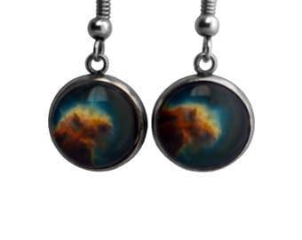 NASA Photograph Eagle Nebula Earrings