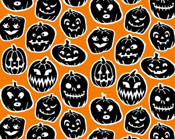 Ready, Set, Glow by Blank Quilting - Pumpkins - GLOW in the Dark Cotton Woven Fabric