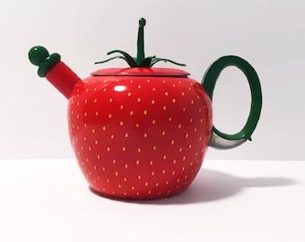 Strawberry Enamel Kettle