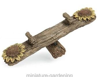 Flower Teeter Totter for Miniature Garden, Fairy Garden