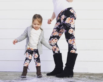 Mommy and Me Outfits - Mommy and Me Leggings - Mom and Daughter Matching Outfits - Matching Leggings - Mom Daughter Matching Outfits