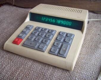 Vintage working Soviet counting machine/Rare Calculator/ Electronic accounting machine /Vintage calculator Electronica
