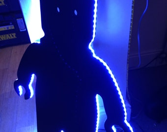 Light up lego man blackboard