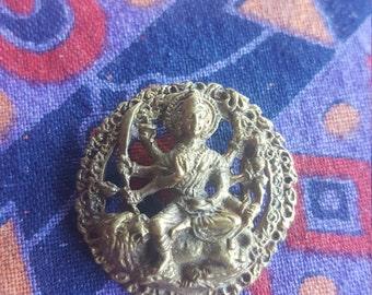 Durga  uma devi Parvati,  brass pendant