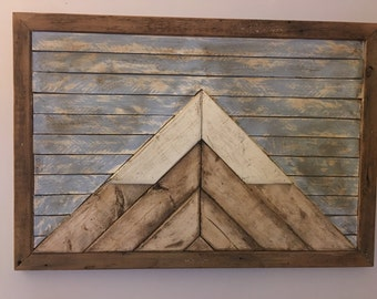 Reclaimed Wood Mountain Art