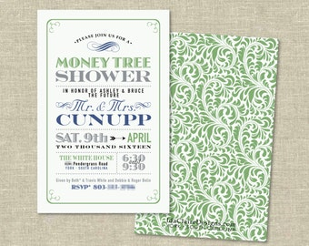Bridal/Couples Shower Invitation Digital Download | Money Tree