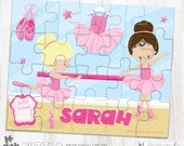 SALE Ballet dancer personalized puzzle, 20 pieces puzzle, name puzzle, Personalized name puzzle, Kids Personalized Gift - PU132