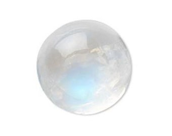 Natural Rainbow Moonstone AAA Round Cabochon (3mm - 15mm) Loose Gemstones