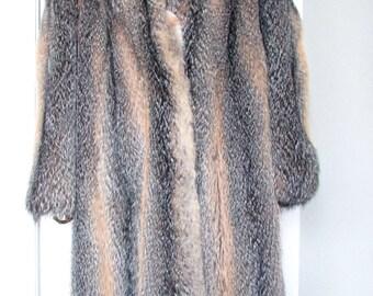 Grey prairie fox coat,size M