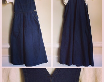 Vintage Madewell denim overall dress.